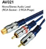 RCA socket -2 RCA plugs