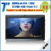 New 7inch android 4.0 Capacitive Screen 512M 4GB Camera WIFI allwinner a13 tablet pc GH-702