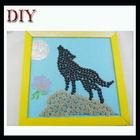 DIY buttons of wolf decorative buttons for crafts
