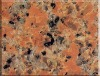 red granite tile