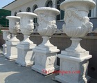 big marble planter/ big marble urn
