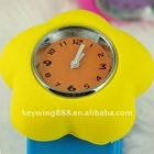 2011 hot sales silicone slap watch strap