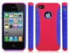 Double color silicone mobile phone case For iphone 4s