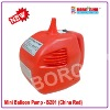 electric balloon pump with a nozzles with china red color