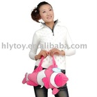 2011 most popular plush toy fish bag with cute design