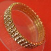 3 rows Rhinestone Stretch Bangle Bracelets