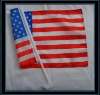 USA Country Car Flags with Plastic Pole