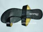 girls' black sandals