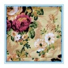 flowers printed jersey cotton fabric