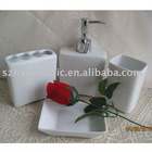 Super white porcelain bathroom accessories set