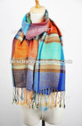 fashion pure wool printed scarf checked design