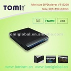 Hottest selling digital multimedia portable sunny dvd player(VT-S208)