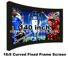 Brightness Cinema size 140 inch HD movie curved projection projector screen manual on sale