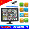 15 inch lcd cctv surveillance monitor with multi-language