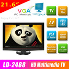 High quality 21.6 inch led smart tv with VGA as a monitor