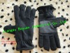 Polar Fleece women Glove for warmth/winterization in winter with leather
