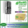 25v 22*35mm 2000h mfd capacitor ISO9001:2000
