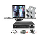 Hot sale 4CH security home CCTV camera KITS with 15 inch LCD monitor