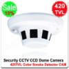 Surveillance Security CCTV 420TVL COLOR Smoke Detector SHARP CCD Dome Camera
