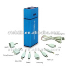 Hot sale!!rechargeable 2600mAh lipstick style power bank