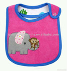 100% cotton baby bibs with elephant