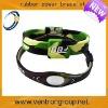 Latest lovely design custom rubber sports energy bracelets