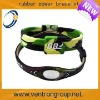 Latest lovely design custom rubber sports energy bracelets