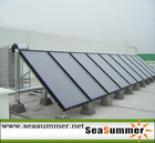 Flat panel split collector system SS-F for hotel and solar swimming pool