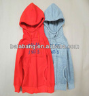 Plain kids hooded sweatshirt with hood for boys