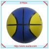 Dual color deluxe rubber basketball balls ST524
