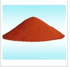 Iron oxide red for glass