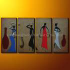 Leather african paintings