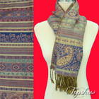 polyester jacquard scarves with paisley design