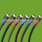 High speed Dual color shell HDMI cable 1.4 A type to A type support 3D & 1080P with ethernet for PS3, Set-top boxes,HDTV,Blu-Ray