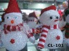 outdoor lighted plastic snowman with led light lighted acrylic snowman