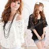 Korea Women Lace Top Sexy Off Shoulder T-Shirt Tank 2 Pieces