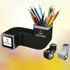 Charming! 1.5 inch pen holder FM Radio digital photo frame for promotional
