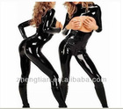 Sexy Lingerie Black Gothic Punk Open Bust Zipper Teddy Catsuit Costume