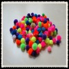 2cm acrylic poms opp bag with assorted color