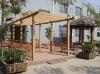 garden pergola,wood plastic composite pergola
