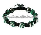 Pakistan Flag Bracelet Autrilian Crystal Paved Beads Bracelet