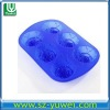 hot sale blue silicone cake mold decorationg