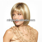 short straight blonde party wig synthetic wig