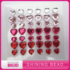 diy heart acrylic rhinestone sticker
