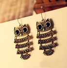 Laster style Europe and the United States jewelry Retro owl earrings