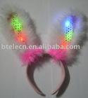 flashing led colorful rabbit ear