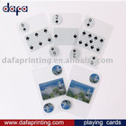 PVC transparent playing cards