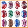Fashion accessory wholesale clay rhinestone shamballa beads bracelet wholesale