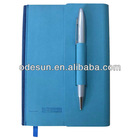 Leather cover notebook with pen
