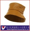 Gold Leather Bucket Hat